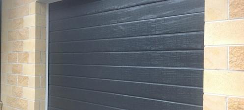 Slimline sectional doors