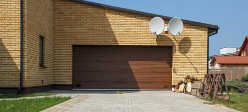 Timber look sectional doors