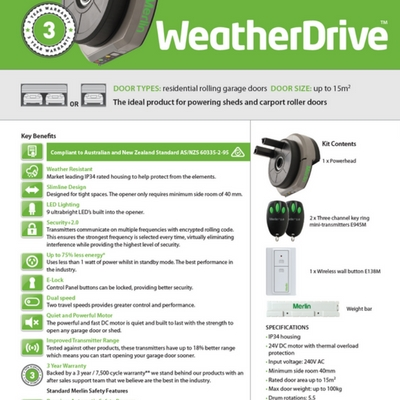 Merlin Weather Drive