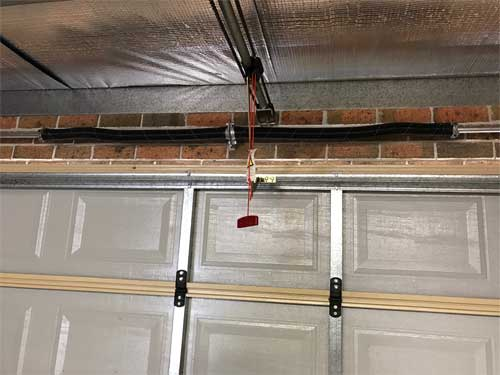 Newly installed garage door springs