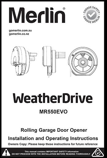 Merlin WeatherDrive Manual