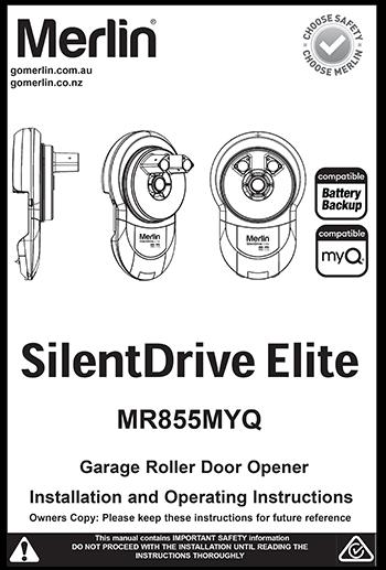 Merlin SilentDrive Elite Manual