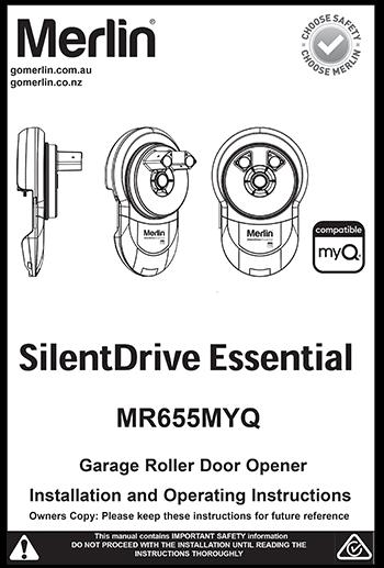 Merlin SilentDrive Essential Manual